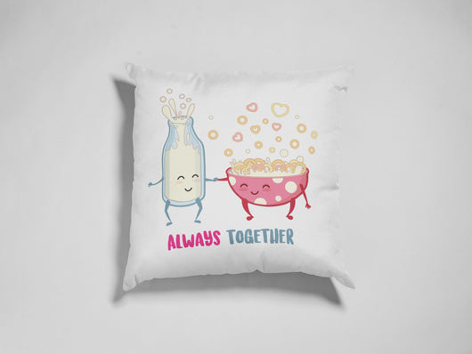 Always Together Milk and Cereal Decorative Pillow - Cute Love Pillow