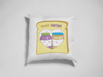Peanut Butter & Jelly Decorative Pillow - Cute Love Pillow