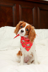 Christmas Themed King Charles Spaniel Pet Bandana -  Holiday Dog Bandana- Cute Fashion For Your Favorite Dog
