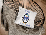 Oy Baby! It's Cold Outside  - Hanukkah Pillow - White Holiday Pillow - Cute Holiday Pillow - Great Hanukkah Gift
