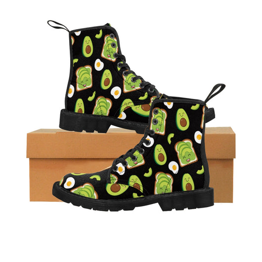 Avocado Toast & Egg Unisex Martin Boots - Breakfast Lovers Shoes - Cute Brunch Shoes