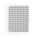 Cute Bone Print Journal -  Blank Hardcover Journal - Black & White Cover with Blank Pages