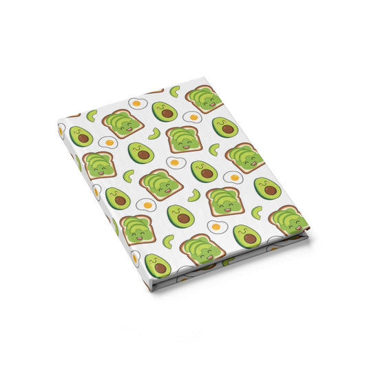 Cute Avocado Toast Journal  Hardcover Blank Journal