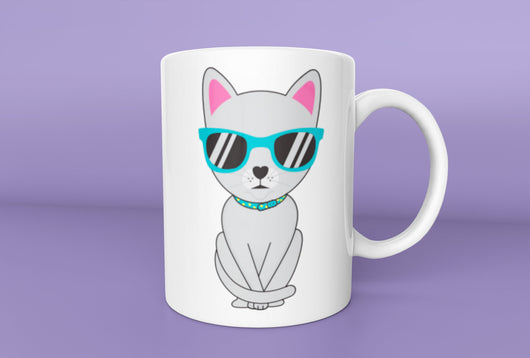 Cute Russian Blue Cat Mug -  Cat Mug - Russian Blue Cat Owner Mug