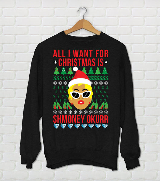 Unisex Cardi B Christmas Sweater  All I Want For Christmas Is Smoney Okurr