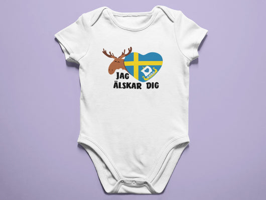 jag älskar dig - Sweden Baby Onesie / Bodysuit - Cute Swedish Baby Onesie - I Love You