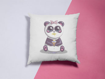 Cute Panda Pillow With Ice Cream - Cute Pillow For Kids