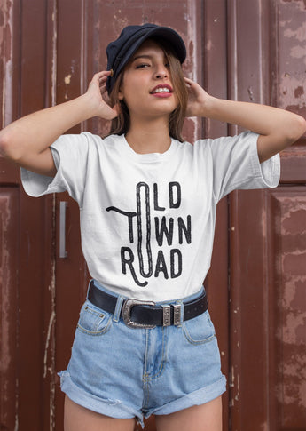 Old Town Road Parody Tshirt - Old Town Road - 'Lil Nas, Billy Rae Cyrus Inspired Tee - Unisex T-Shirt XS/Small/Medium/Large/XL - O