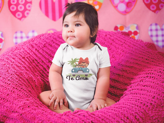 Te Amo - Mexican Themed Baby Bodysuit - White - Cute Baby Gift - Mexican Themed Baby Gift