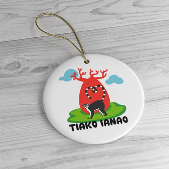 I Love You - Madagascar Holiday Christmas Tree Ornament - Tiako Ianao