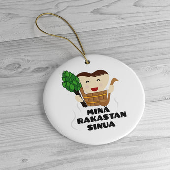 I Love You - Finland Christmas Ornament - Minä rakastan sinua- Finnish Love Mug