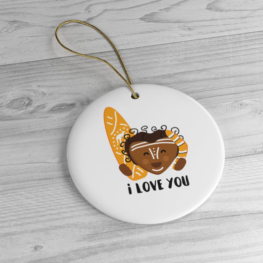 Australian I Love You - Ornament - Holiday Ceramic Tree Ornament - Australian Gift Idea  - Australia