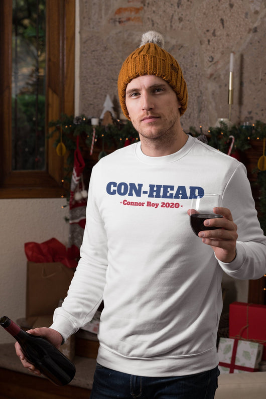 Con-head - Connor Roy 2020 - Succession Tee-  Succession Parody Holiday Sweater - Ugly Sweater