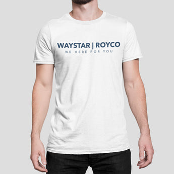 Waystar Royco Merch Succession Tee-  Succession Parody White Tee - Waystar Royco, We Here For You Tee-Shir