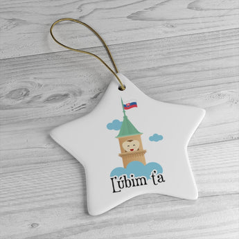 I Love You Holiday Christmas Tree Ornament - Slovakian Gift - Slovakia Ornament