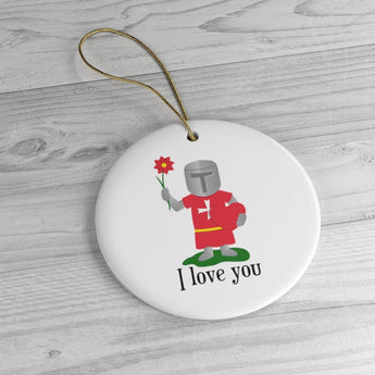I Love You Holiday Christmas Tree Ornament - Malta Gift - Malta Ornament