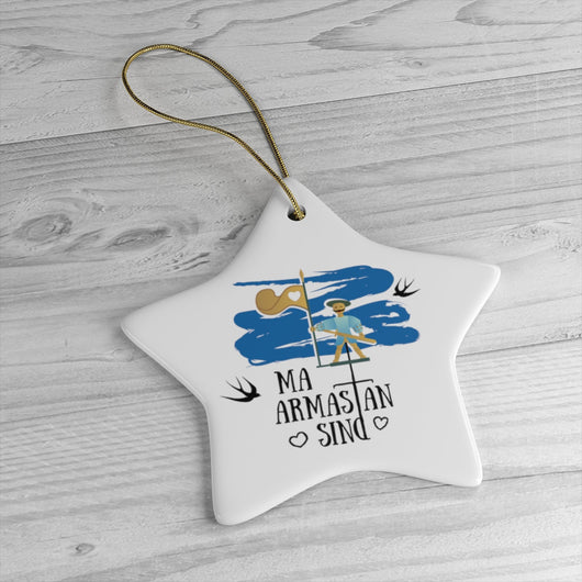 I Love You - Belarus Christmas Tree Ornament -  Belarus Ceramic Ornament - я цябе кахаю