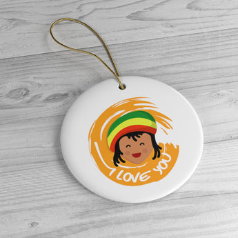 Jamaica - Holiday Ornament For Christmas Tree - Ceramic Ornament - Jamaican I Love You Ornament