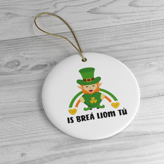 Ireland - Holiday Ornament For Christmas Tree - Ceramic Ornament - Ireland - Leprechaun