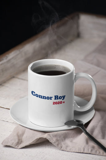 Connor Roy For President 2020 Succession-  Succession Parody Mug - Blue & Red