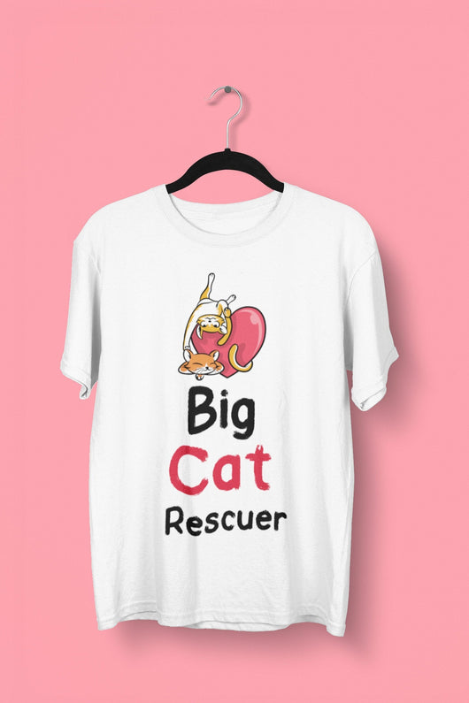 Big Cat Rescuer - Joe Exotic & Carole Baskin Parody Teeshirt - Tiger King