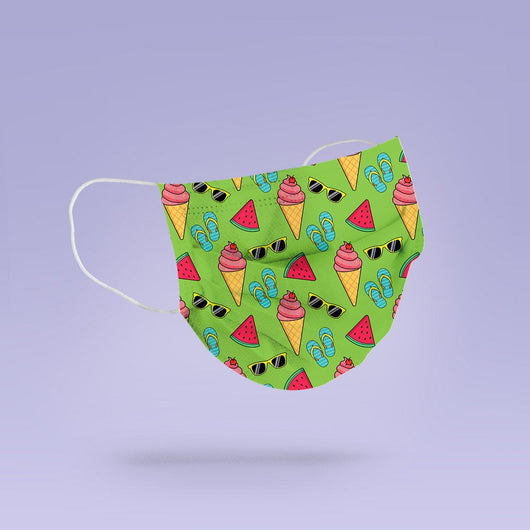 Washable & Reusable Cloth Ice Cream Face Mask Cover