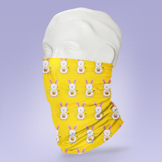 Washable & Reusable Honey Bunny Face Mask - Gaiter Face Shield - Face Mask - Face Buff - Snood