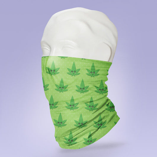 Washable & Reusable Weed Marijuana Leaf Face Mask - Face Shield - Face Mask