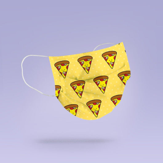 Washable & Reusable Pizza Themed Cloth Face Mask Cover