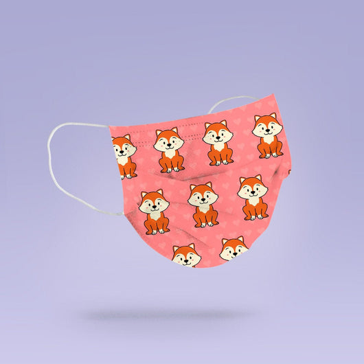 Washable & Reusable Cute Kawaii Fox Face Mask Cloth Cover