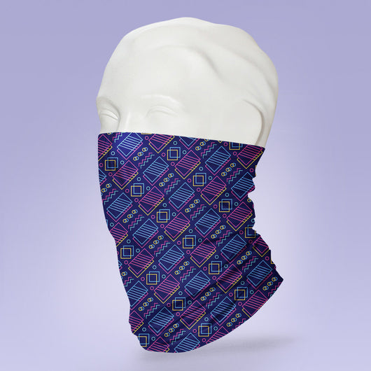 Washable & Reusable 80's Themed Mask -  Face Shield -  Pattern Face Mask - Stylish Pattern Cute Face Mask