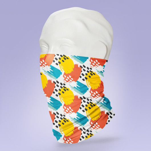 Washable & Reusable Geometric Pattern - Stylish Face Mask - Face Shield - Cute Face Mask