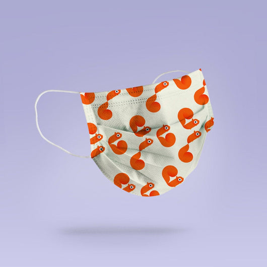 REUSABLE FACE MASK -  Soft, Cloth, Anti-Dust, Washable, Re-Usable, Squirrel Print Adult Mouth Cover - Squirrel Face Mask
