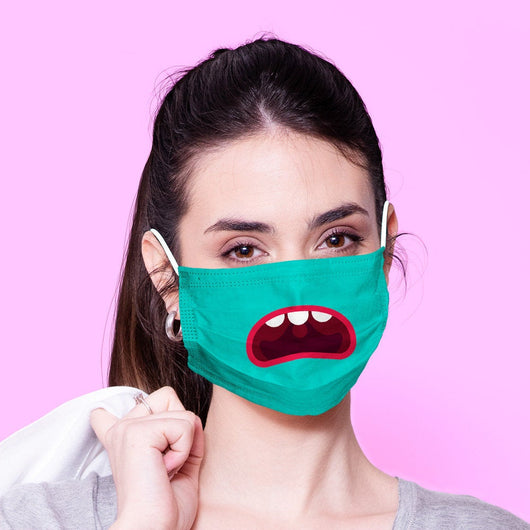 Washable & Reusable Monster Face Mask Emoji Mouth Mask - Kawaii Face Mask -  Mask Cover - Funny Masks - Funny Face Mask