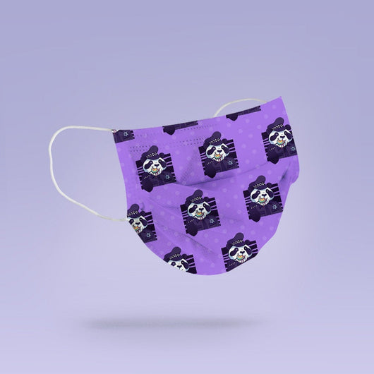 REUSABLE FACE MASK - Soft, Cloth, Washable, Re-Usable, Police Panda Face Mask - Adult Mouth Cover - Police Panda Face Mask