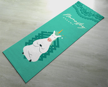 Namastay Playful Unicorn Yoga Mat - Fitness Mat - Purple Color Cute Unicorn Mat - Non-Slip Yoga Mat