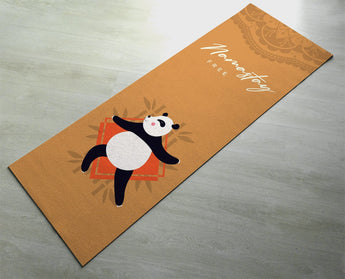 Namastay Free Unicorn Yoga Mat - Fitness Mat - Panda Cute Unicorn Mat - Non-Slip Yoga Mat - Orange