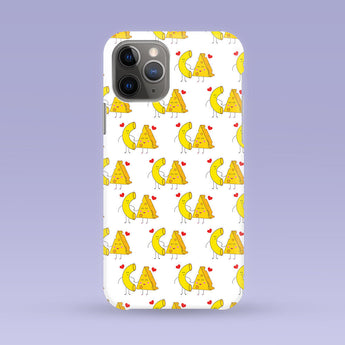 iPhone Case - Macaroni & Cheese Print - Multiple Case Sizes Available - Mac and Cheese Phone Cover, Durable iPhone Case - Cute Pasta Case