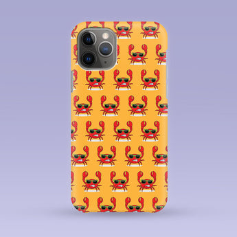 Yellow Crab iPhone Case - Multiple Case Sizes Available - Crab Phone Cover, Durable iPhone Case - Crab iPhone Case