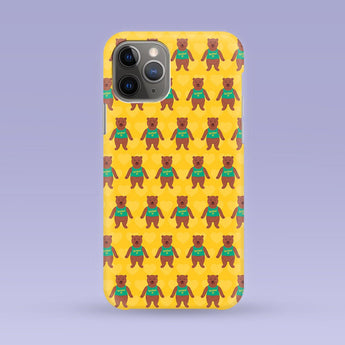 Namaste Bear iPhone Case - Multiple Case Sizes Available - Yoga Bear Phone Cover, Durable iPhone Case - Yoga Bear iPhone Case