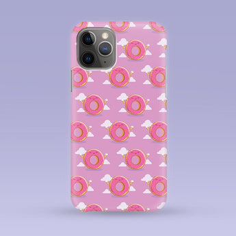 Purple Donut iPhone Case - Multiple Case Sizes Available - Donut Phone Cover, Durable iPhone Case - Donut iPhone Case