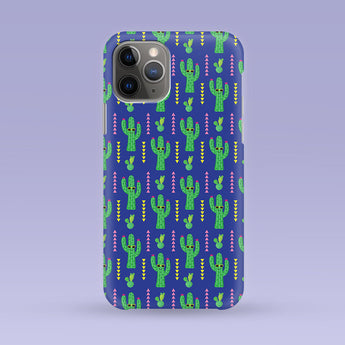 iPhone Case - Cactus Print - Multiple Case Sizes Available - Avocado iPhone Cover, Durable iPhone Case - Cute Cactus Case