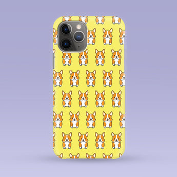 Corgi iPhone Case - Multiple Case Sizes Available - Corgi Phone Cover, Durable iPhone Case - Yellow Corgi