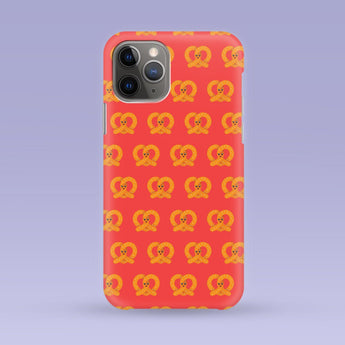 Pretzel iPhone Case - Multiple Case Sizes Available - Pretzel Phone Cover, Durable iPhone Case - Pretzel Pattern