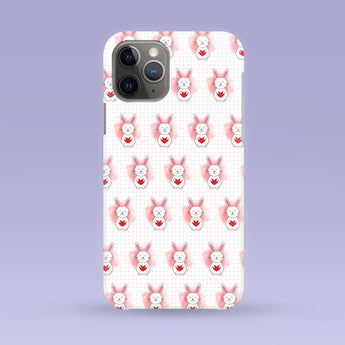 Cute Bunny iPhone Case - Multiple Case Sizes Available - Heart Bunny Phone Cover, Durable iPhone Case - Cute Bunny iPhone Case