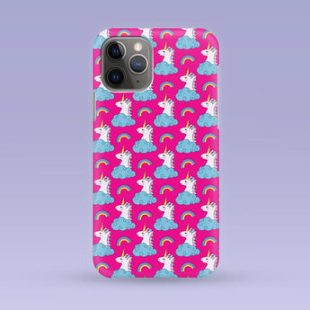 Pink Unicorn iPhone Case - Multiple Case Sizes Available - Unicorn Phone Cover, Durable iPhone Case - Unicorn iPhone Case