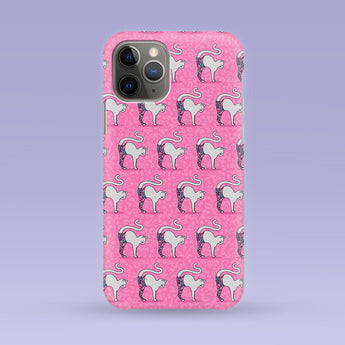Pink Yoga Cat iPhone Case - Multiple Case Sizes Available - Kitten Phone Cover, Durable iPhone Case - Yoga Cat iPhone Case