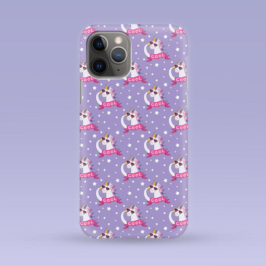 Cool Purple Unicorn iPhone Case - Multiple Case Sizes Available - Unicorn Phone Cover, Durable iPhone Case -Unicorn iPhone Case