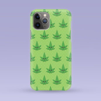 Green Weed Marijuana iPhone Case - Multiple Case Sizes Available - Marijuana Weed Phone Cover, Weed iPhone Case