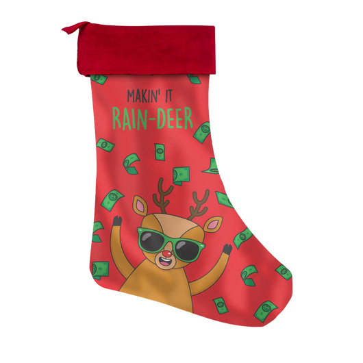 Making It Rain-deer Stocking
